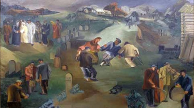 Leon Garland's 1932 painting 'Wedding in the Cemetery'